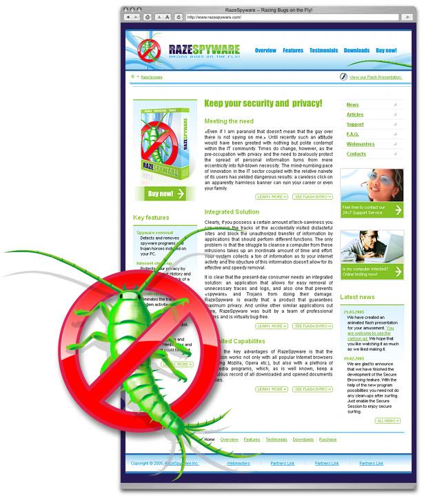 Дизайн промо-сайта продукта, стартовая страница