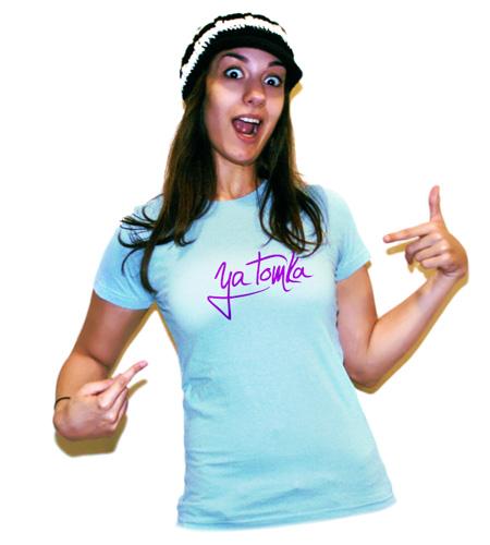 Персональный логотип художницы «Я — Томка!»