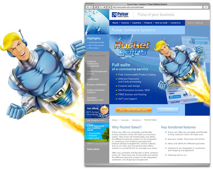 Персонаж и промо-страница