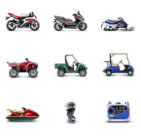 Иконки для разделов каталога. Сайт Yamaha.ua