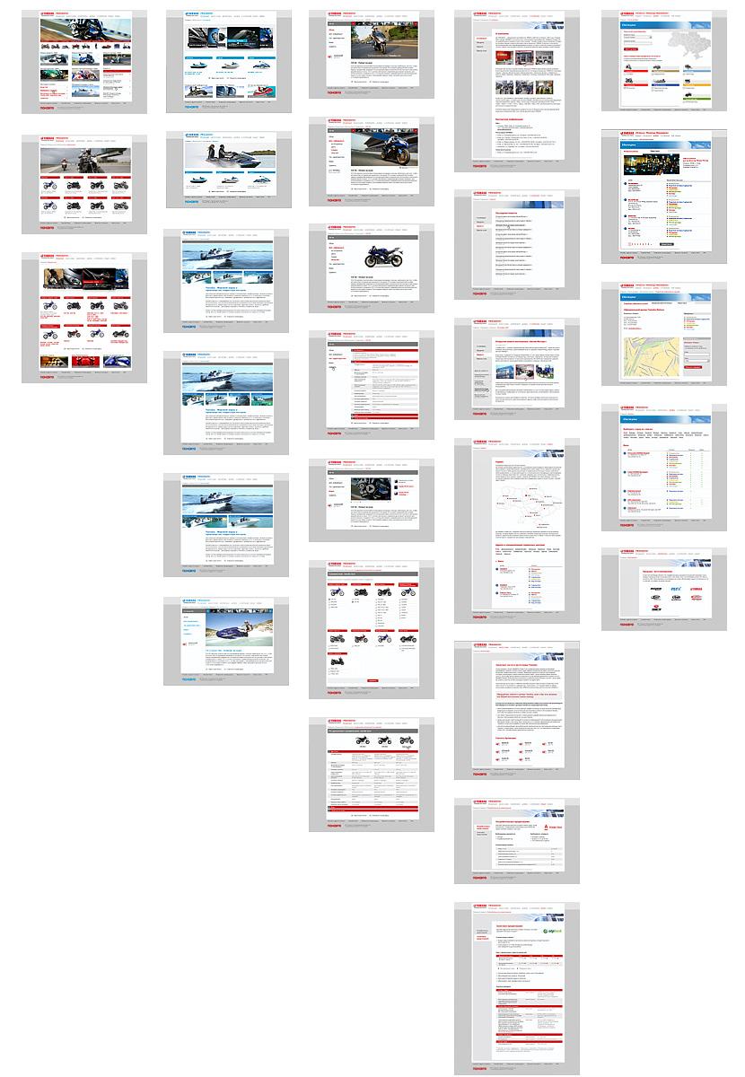 Основной набор проработанных шаблонов и состояний сайта