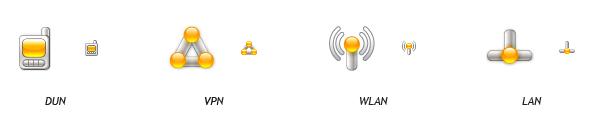 Иконки основных типов подключения