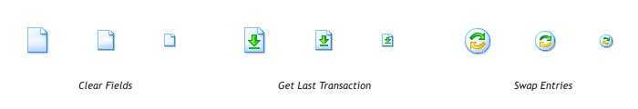 Пиктограммы для «Окна транзакций»