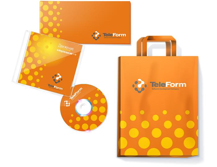 Элементы фирменного стиля. Компакт-диск, открытка, корпоративные пакеты.