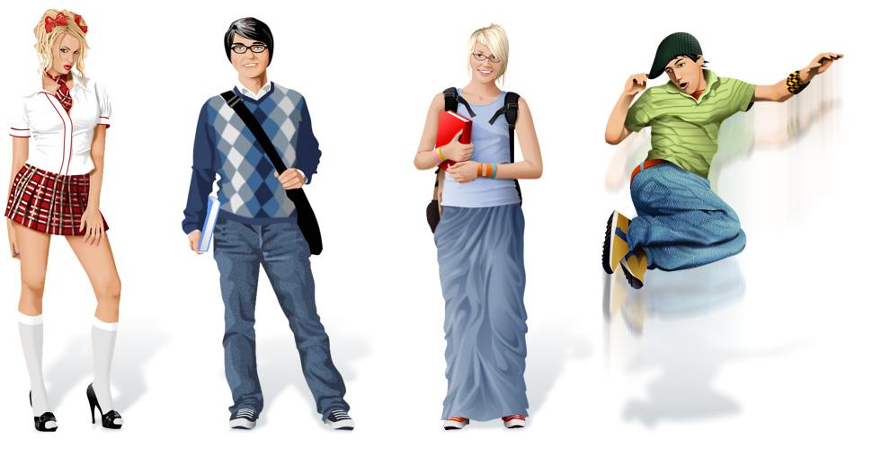 Персонажи для сайта